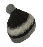 Knitted hat with pompom isolated on white background Royalty Free Stock Image