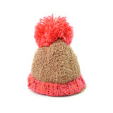Knitted hat with pompom isolated on white background Stock Photography