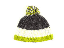 Knitted hat with pompom Royalty Free Stock Photos