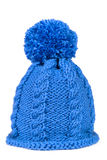 Knitted hat with a pompon Royalty Free Stock Images