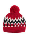 Knitted hat with pompon Stock Image