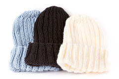 Knitted hats Royalty Free Stock Photos