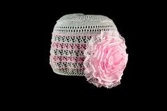 Knitted headdress Royalty Free Stock Photography