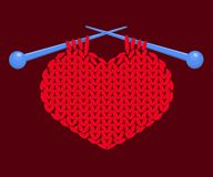 Knitted heart Royalty Free Stock Image