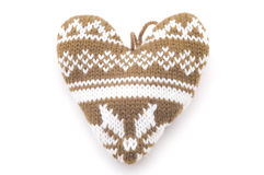 Knitted heart Stock Image