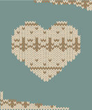 Knitted heart card vector illustration Stock Image