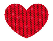 The knitted heart Royalty Free Stock Photo