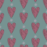 Knitted heart pattern Royalty Free Stock Image