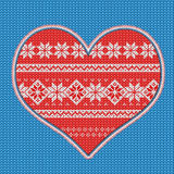 Knitted heart Stock Photo