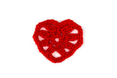Knitted heart. Royalty Free Stock Images