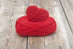 Knitted heart Royalty Free Stock Photo