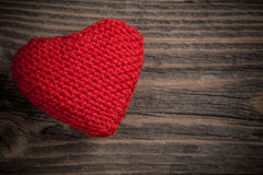 Knitted heart Royalty Free Stock Photography