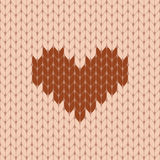 Knitted heart seamless pattern Stock Photo