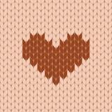 Knitted heart seamless pattern Stock Photo