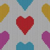 Knitted heart. Valentine day card Stock Photo