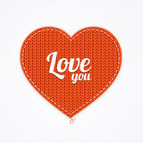 Knitted Heart. Vector Royalty Free Stock Images