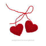 Knitted hearts Royalty Free Stock Image