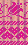 Knitted hearts and flowers royalty free stock image