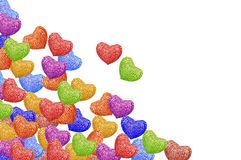 Knitted hearts horizontal Royalty Free Stock Image
