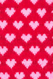 Knitted hearts seamless pattern Royalty Free Stock Images