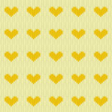 Knitted hearts seamless pattern Stock Photography