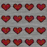 Knitted hearts Stock Image
