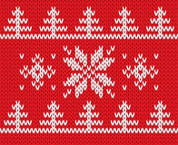 Knitted holiday pattern. Vector illustration. Stock Photography