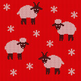 Knitted holiday seamless Royalty Free Stock Images
