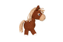 Knitted horse Stock Photo