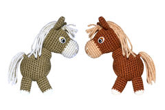 Knitted horse Royalty Free Stock Photo
