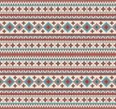 Knitted Indian rug paisley ornament seamless pattern. Ethnic Mandala print