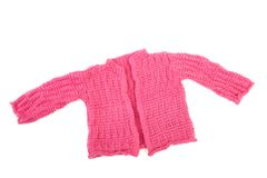 Knitted jacket for the baby Royalty Free Stock Images