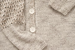 Knitted jacket close-up Stock Images