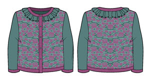 Knitted jacquard cardigan Stock Image