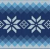 Knitted jacquard pattern Stock Image