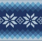 Knitted jacquard pattern Stock Image