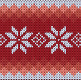 Knitted jacquard pattern Royalty Free Stock Photography
