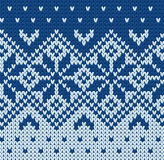 Knitted jacquard pattern Stock Photo