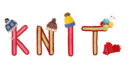 Knitted letters Stock Photography