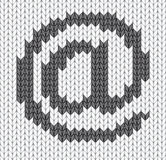Knitted mail Icon Royalty Free Stock Images