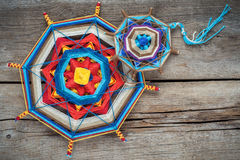 Knitted mandala Stock Photography