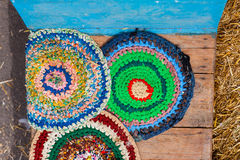 Knitted mats Royalty Free Stock Photo