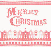 Knitted Merry Christmas text Royalty Free Stock Photo