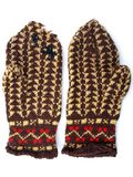 Knitted mitten1 Stock Images