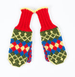 Knitted mittens Royalty Free Stock Photo