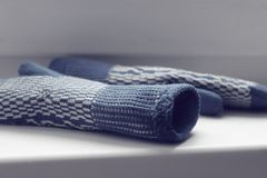 Knitted mittens Royalty Free Stock Image