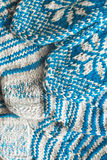 Knitted mittens and socks jacquard pattern Royalty Free Stock Photo