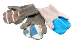 Knitted mittens Stock Photography