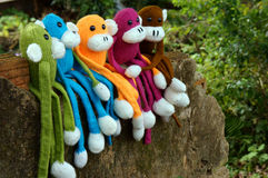 Knitted monkey, symbol, year of the monkeys Stock Images