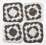 Knitted monochrome pattern Stock Image